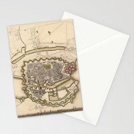 Map of Copenhagen 1837 Stationery Cards