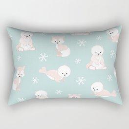 ARCTIC FRIENDS (green) Rectangular Pillow