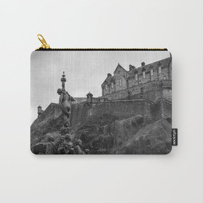 Edinburgh Castle and Fountain Carry-All Pouch