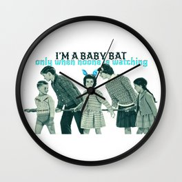 Baby bat Wall Clock