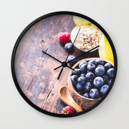 healthy food Wall Clock