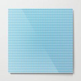 Oktoberfest Bavarian Blue and White Small Diagonal Diamond Pattern Metal Print