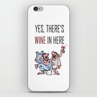 wine iPhone & iPod Skins featuring Wine by Artysmedia