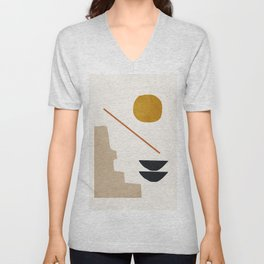 abstract minimal 6 Unisex V-Neck