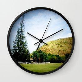 GO GREEN Wall Clock