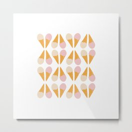 Ice Cream Cone Print Metal Print