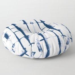 Shibori Stripes 4 Indigo Blue Floor Pillow