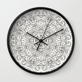 Drawing Floral Doodle G2 Wall Clock