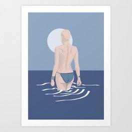 The girl from Budva in classic blue Art Print