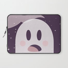 Pink Surpried Ghost Laptop Sleeve