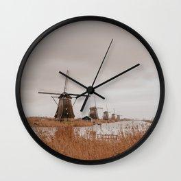 Beautiful Mill // The Netherlands // Kinderdijk Wall Clock