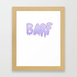 Barf BLUE Framed Art Print