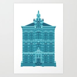 Blue House in Holland Art Print