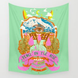 PEACE ON THE RISE Wall Tapestry