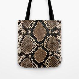 Faux Python Snake Skin Design Tote Bag