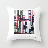 skyline Throw Pillows featuring SKYLINE by Ruth Hagen