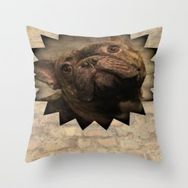 bully on the wall Throw Pillow