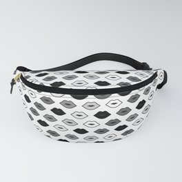 Chessboard Lips - Black and White Fanny Pack