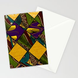 Earthy Mardi Gras African Print Stationery Cards