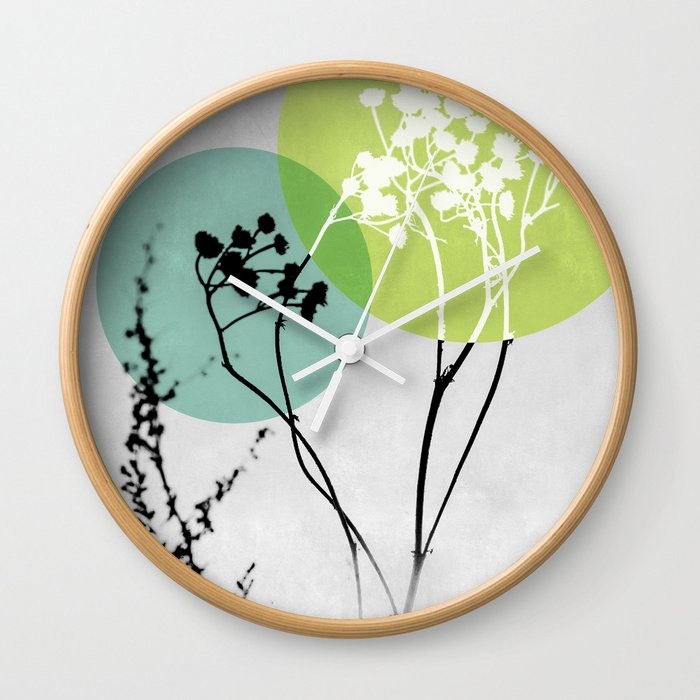 Abstract Flowers 2 Wall Clock