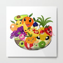 Monster Fruit Bowl Metal Print