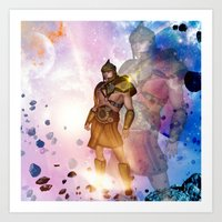 hercules Art Prints featuring Hercules by nicky2342