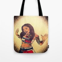 aaliyah Tote Bags featuring One In A Million by Artistic