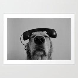 Hello, This is Dog Art Print