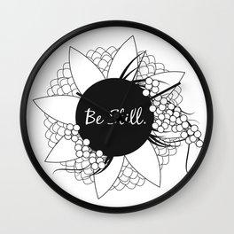 Be Still Wall Clock
