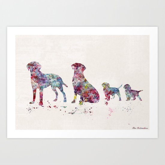 Labrador family Art Print
