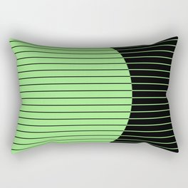 Opposites Attract (Abstract, green and black, geometric design) Rectangular Pillow