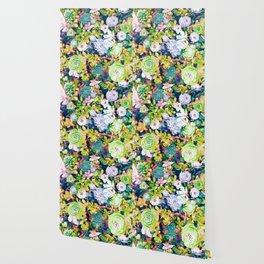 Watercolor Succulents Wallpaper