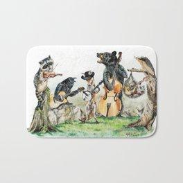 """"""" Bluegrass Gang """" wild animal music band Bath Mat"""