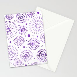 Abstract watercolor sparkles – ultra violet Stationery Cards