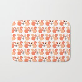 Red squirrel Bath Mat
