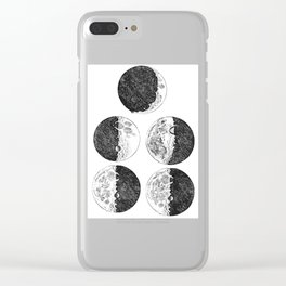 Galileo Galilei Sketches of the Moon Clear iPhone Case