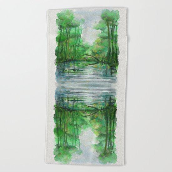 Lost in colors Beach Towel