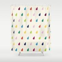 xbox Shower Curtains featuring Raindrops by Cute Cute Cute