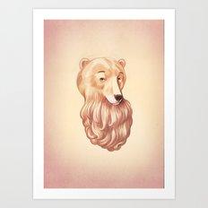 Bear-D Art Print
