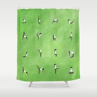 namaste Shower Curtains featuring Namaste. by Robyn Smith
