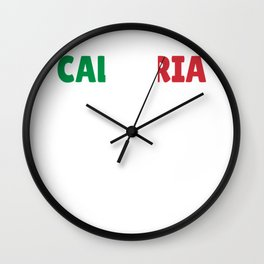 Calabria Italy flag holiday gift Wall Clock