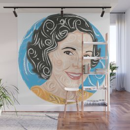 Aunt smiling / Wall Mural