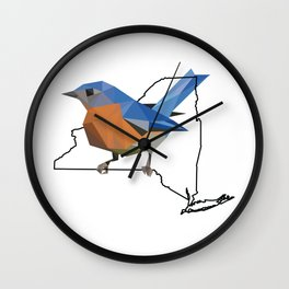 New York – Eastern Bluebird Wall Clock
