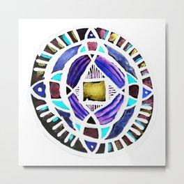 Four Season Life Mandala Metal Print