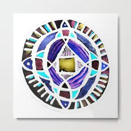 Four Season Life Mandala Metal Print
