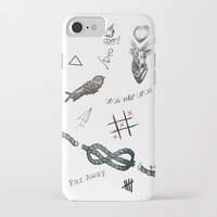 tattoos iPhone & iPod Cases featuring Louis's Tattoos by Kate & Co.
