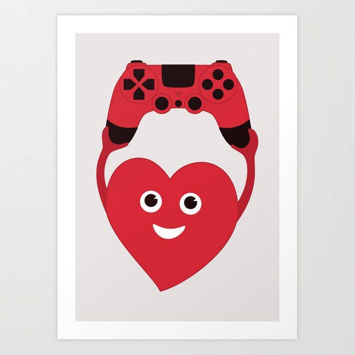 Gaming Heart Art Print