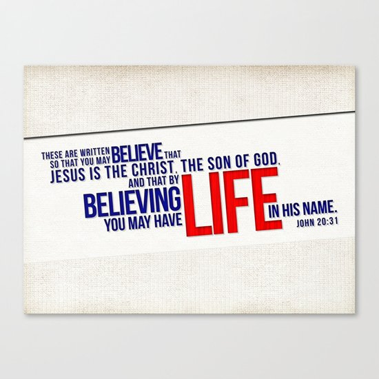Life in His Name Canvas Print
