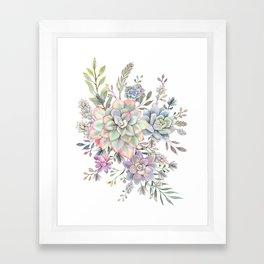 succulent watercolor 8 Framed Art Print