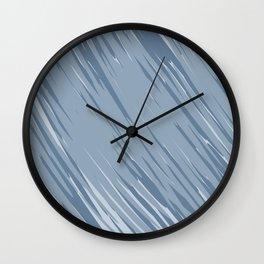 Abstract grey zebra background Wall Clock